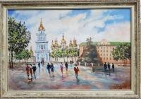 Картина «Виды Киева. София» в раме