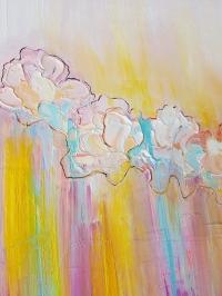 Картина абстракция маслом цветы «Весна. Цветение» живопись для современных интерьеров Украина