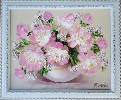 Картина «Розовый букет»