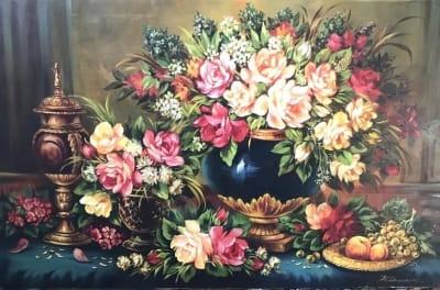 Картина «Натюрморт с пионами»