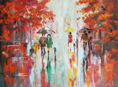 Картина «Яркие краски осени»