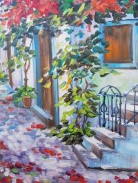 Картина «Цветущий дворик» 2