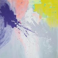 Картина абстракция маслом «Смесь моих желаний» в современном интерьере 1