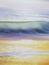 Картина маслом пейзаж море «Утреннее солнце» живопись Украина