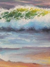 Картина маслом морской пейзаж «Волна» живопись Украина