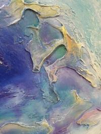 Картина маслом голубая абстракция «Поцелуй вселенной» картины для современного интерьера