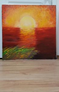 Картина «Терракотовый закат»
