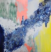 Картины абстракция маслом «Смесь моих желаний» живопись для современных интерьеров