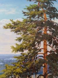 Картина маслом сельский пейзаж «Родные просторы» - живопись для современных интерьеров