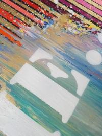 Картина абстракция «Focus on me» - живопись для современных интерьеров Киев