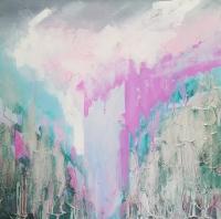 Картина маслом абстракция Киев «Нежная глубина» - живопись для современных интерьеров