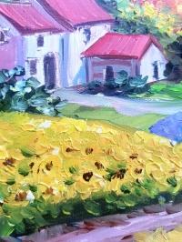 Картина маслом французский пейзаж Прованс «Красочный Прованс» - живопись для современных интерьеров
