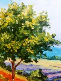 Картина маслом пейзаж Прованс «Прованс» - живопись для современных интерьеров