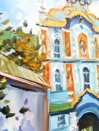 Картина маслом городской пейзаж Киева «Виды Киева. Киево-Печерская Лавра» - живопись для современных интерьеров