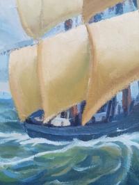 Картина морской пейзаж «Попутный ветер» купить картину маслом Киев