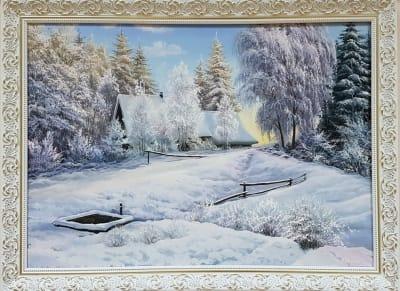 Картина зимний пейзаж «Зимний сон» - купить современную живопись Украина