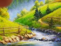 Картина маслом горы «Величие гор» - купить живопись Киев