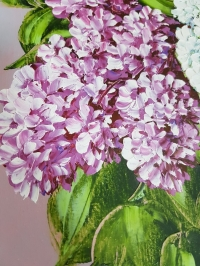 Картина маслом цветы «Сирень» купить живопись для современных интерьеров Украина