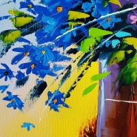 Картина цветы «Цветы. Феерия» купить живопись для современных интерьеров Киев