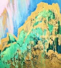 Картина для современных интерьеров «Из глубины» купить абстракции Киев