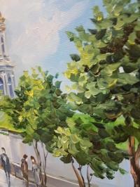 Картина маслом пейзаж Киева «Виды Киева. Киево-Печерская Лавра» купить живопись Украина