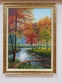 Картина осенний пейзаж «Осень. Переливы красок октября» купить картины маслом Киев