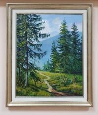 Пейзаж горы картина маслом «Тишина горной прохлады» купить картину Киев