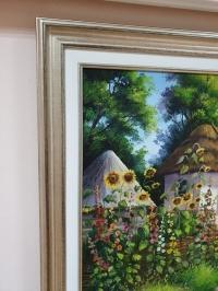 Картина маслом сельский пейзаж «Украинский пейзаж» купить картину на тему Украина