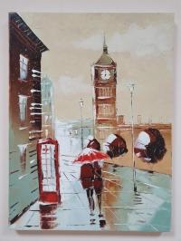 Картина маслом Лондон «Прогулка с любимым в Лондоне» купить картину Киев