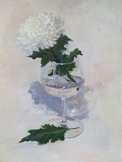 Картина для современных интерьеров «Нежная хризантема» купить картину цветы Киев
