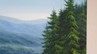 Картина маслом горный пейзаж Карпаты «Тишина Карпат» купить картину Киев и Украина