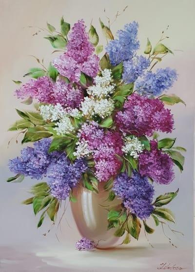 Картина маслом сирень «Весны аромат» купить картину Киев