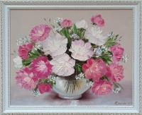 Картина маслом цветы пионы «Аромат весенних пионов» купить живопись Украина