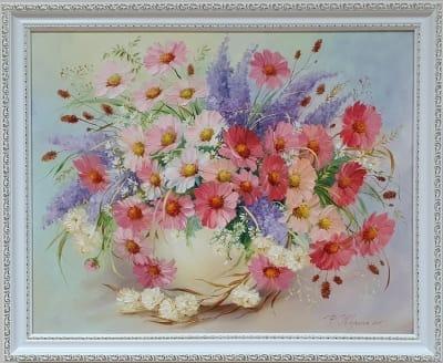 Картина маслом цветы «Летний аромат» купить картину Киев