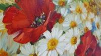 Картина маслом цветы «Украинское лето... полевые цветы» купить картину Киев