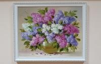 Картина маслом цветы сирень «Нежный букет сирени» купить картину Киев