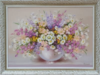 Картина маслом «Полевые цветы. Аромат лета» купить живопись Украина