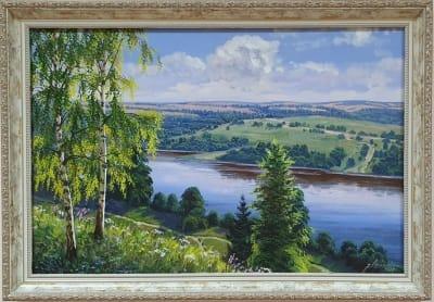 Картина маслом летний пейзаж «Летний пейзаж» купить живопись Украина