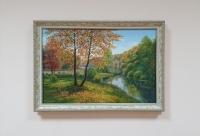 Картина маслом осенний пейзаж «Осенняя тишина» купить живопись Украина