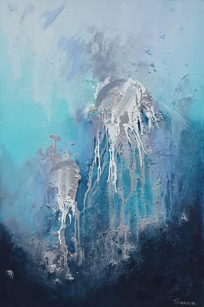 Абстракция картина море медузы «Из глубины» картины для современных интерьеров Киев