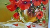 Картина маслом цветы «Так нежен каждый лепесток» купить живопись Украина