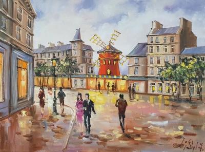 Картина « Этот красочный Париж » купить современную живопись Украина