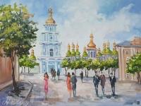 Картина киевский пейзаж «Виды Киева - величественная София» купить картину маслом Киев