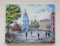 Картина киевский пейзаж «Виды Киева. София» купить живопись Украина