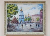 Картина маслом киевский городской пейзаж «Виды Киева. Софиевская площадь» купить современную живопись Украина