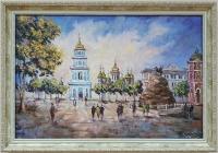 Картина киевский пейзаж «Виды Киева. Вечерняя София» купить современную живопись Украина