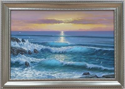 Картина маслом пейзаж море «Морской пейзаж» купить живопись Украина
