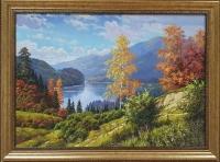 Картина маслом осенний пейзаж «Теплые краски осени» купить живопись Киев