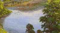 Картина маслом летний пейзаж «Летняя тишина» купить живопись Киев
