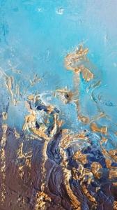 Картина маслом абстрактное море «ИЗ ГЛУБИНЫ» купить живопись Украина